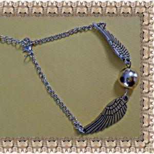Silver Tone Snitch Design Bracelet Unisex